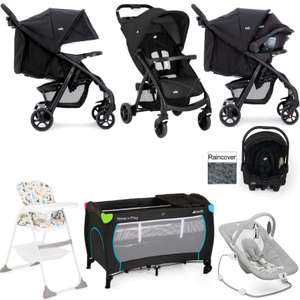 Joie Muze Pushchair + Car Seat + Highchair + Travel Cot + Bouncer Chair + Raincover £264.95 @ Online4baby