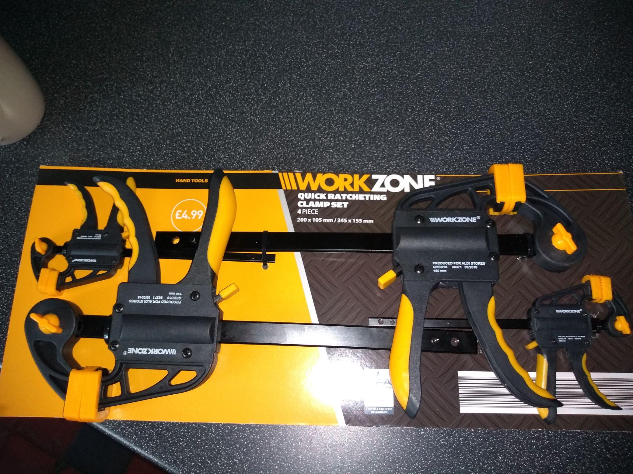 Workzone clamp set £4.99 instore @ Aldi York