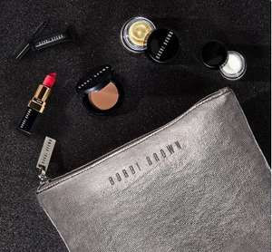 5 free minis with £35 order or 5 minis + make up bag with code + free gift wrapping & delivery examples in post @ Bobbi Brown