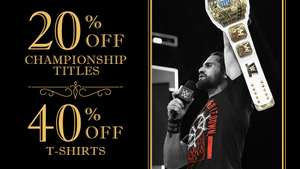 40% off selected wrestling t-shirts are WWE euroshop