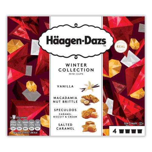 Häagen-Dazs Minicups Winter Collection 4x100ml - £3 (Was £4.20) @ Tesco