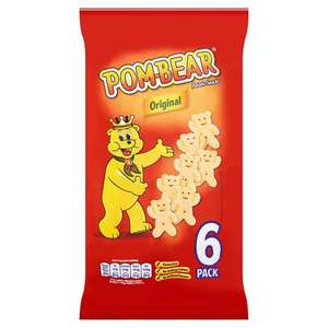 Pom Bear Original / Cheese & Onion Potato Snacks 6 X 15G - £1 (Was £1.99) @ Tesco