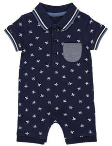 Aeroplane romper shirt @ Asda free click and collect £4