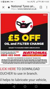 Engine oil & filter change. Using fully synthetic oil. £43.45
