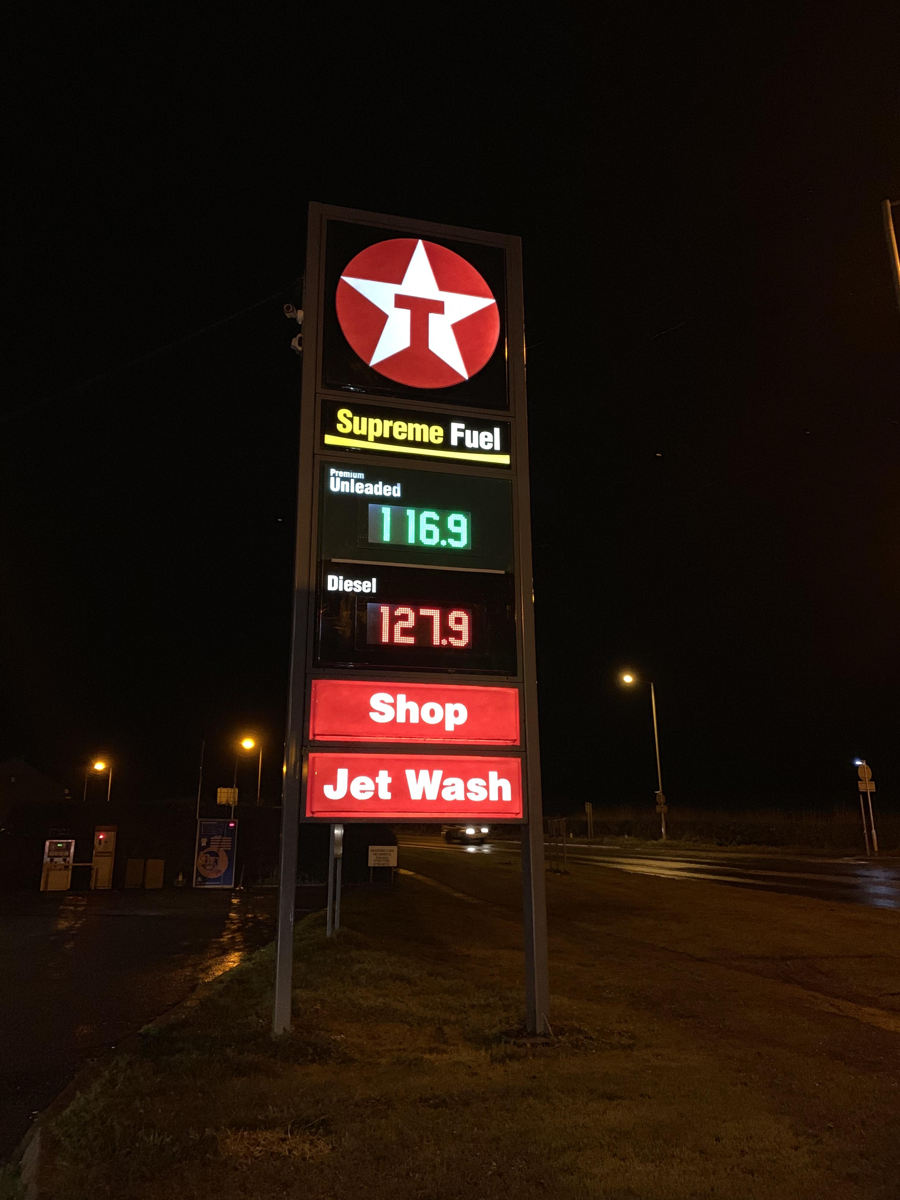 Cheap Texaco Fuel - £1.16.9 (Shropshire)