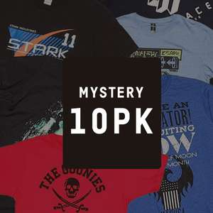 MYSTERY GEEK T-SHIRT - 10-PACK - BLACK FRIDAY EDITION £19.99 or £16.99 with new customer code @ IWOOT