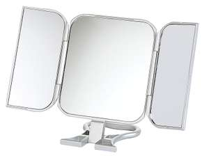 23 x 12cm Folding Travel Mirror True Image, Silver £3.99  Prime (Free Delivery Non Prime with code FREEDELIVERY) @ Amazon