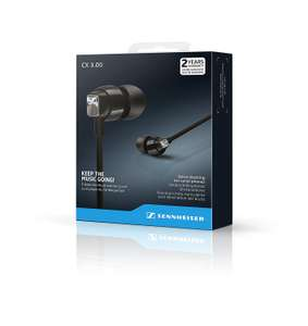 Sennheiser CX 3.00 in ear Headphones - Black/Red £27.20 at Amazon (free delivery)