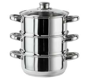 Argos Home 3 Tier Steamer - Stainless Steel only 10.99 @ Argos