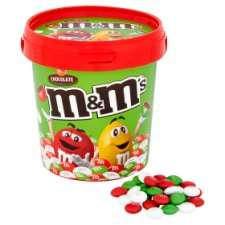 Malteasers Buttons / Malteasers / Skittles / M&Ms Christmas Buckets Any 3 for £10 @ Tesco