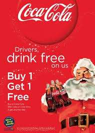 Coca Cola Designated Driver campaign Buy One Get One Free Back from today for it's 11th Year