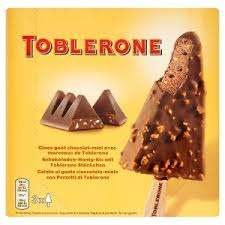 Toblerone Ice-Cream 3 x 100ml £2 reduced from £3 Iceland