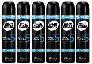 Right Guard Total Defence Cool Deodorant 250 ml - Pack of 6 - £7.40 (S&S) or £8.70 Delivered (with code) @ amazon
