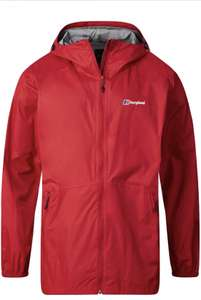 Men's Berghaus Deluge Light Waterproof Jacket - Red (Small) - £30.33 Delivered @ Amazon