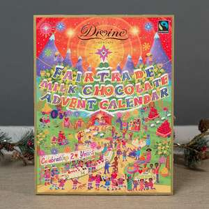 Divine Fairtrade Milk Chocolate Advent Calendar - £4.99 Delivered (Was £11.99) @ Bunches.co.uk