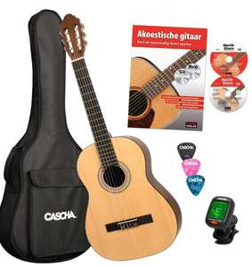 Cascha classical guitar bundle £14.54 Prime + Free delivery with code (FREEDELIVERY) Non-Prime @ Amazon