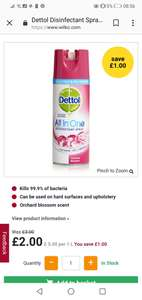 Dettol Spray Banish cold and Flu £2 @ Asda and Wilko