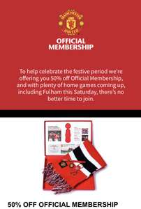 50% off Official Membership MUFC