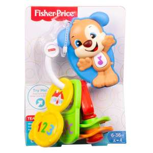 Fisher-Price Count and Go Keys, Baby Electronic Educational Toy with Sounds, Words, Letters, Numbers, 6 Months Plus @ Amazon Add On £5.02