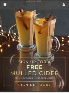 Free Mulled Cider @ All Bar One