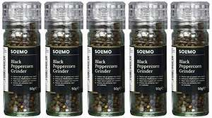 Amazon black peppercorns with grinder (pack of 5) £2.72 @ Amazon (Add on item)