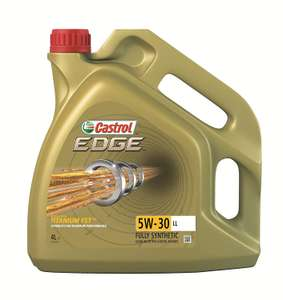 Castrol EDGE 5W-30 LL Engine Oil, 4L - Gold @ Amazon for £25.40