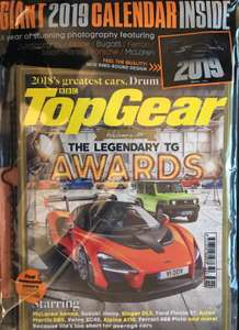 FREE 2019 Top Gear Calendar With December Issue of magazine