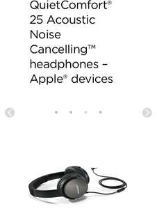 BOSE QC25 QuietComfort® 25 Acoustic Noise Cancelling™ headphones at Bose for £129.95