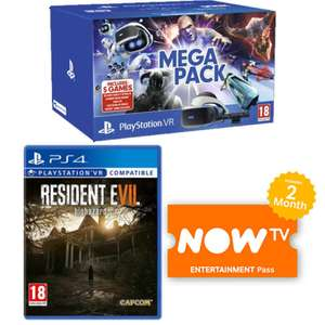 PS VR Mega Pack with 6 Games + Now TV 2 months Ent. Pass £229.99 delivered @ Game