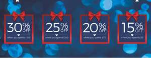 15-30% off of selected lines @ Disney Store when you spend qualifying amounts from £50-150!