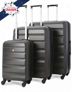 Aerolite ABS325 ABS Hard Shell Luggage Suitcase 3-Piece Set (21″/25″/29″) now £64.99 Del @ Travel Luggage & Cabin Bags