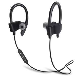 Wireless Bluetooth 4.1 Sweatproof in ear headphones with voice prompt, stereo sound. DSP noise reduction £2.67 Del @ Tomtop