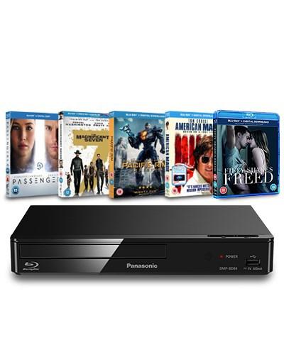 Panasonic Blu-Ray player with 5 Blu Ray movies £54.99 @ zoom.co.uk