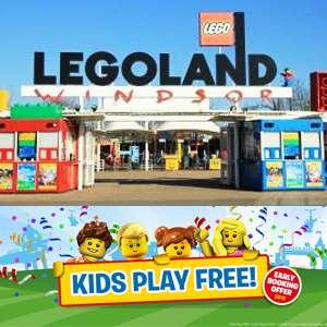 Legoland Kids Play Free in 2019 - 2A/2C - 2 days in park + Hotel Stay, Kid's Goody Bags & Breakfast from £129 @ Legoland Holidays