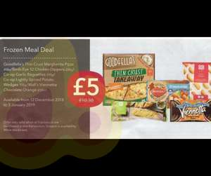 Frozen meal deal at Co-op £5.00 from 12/12/18