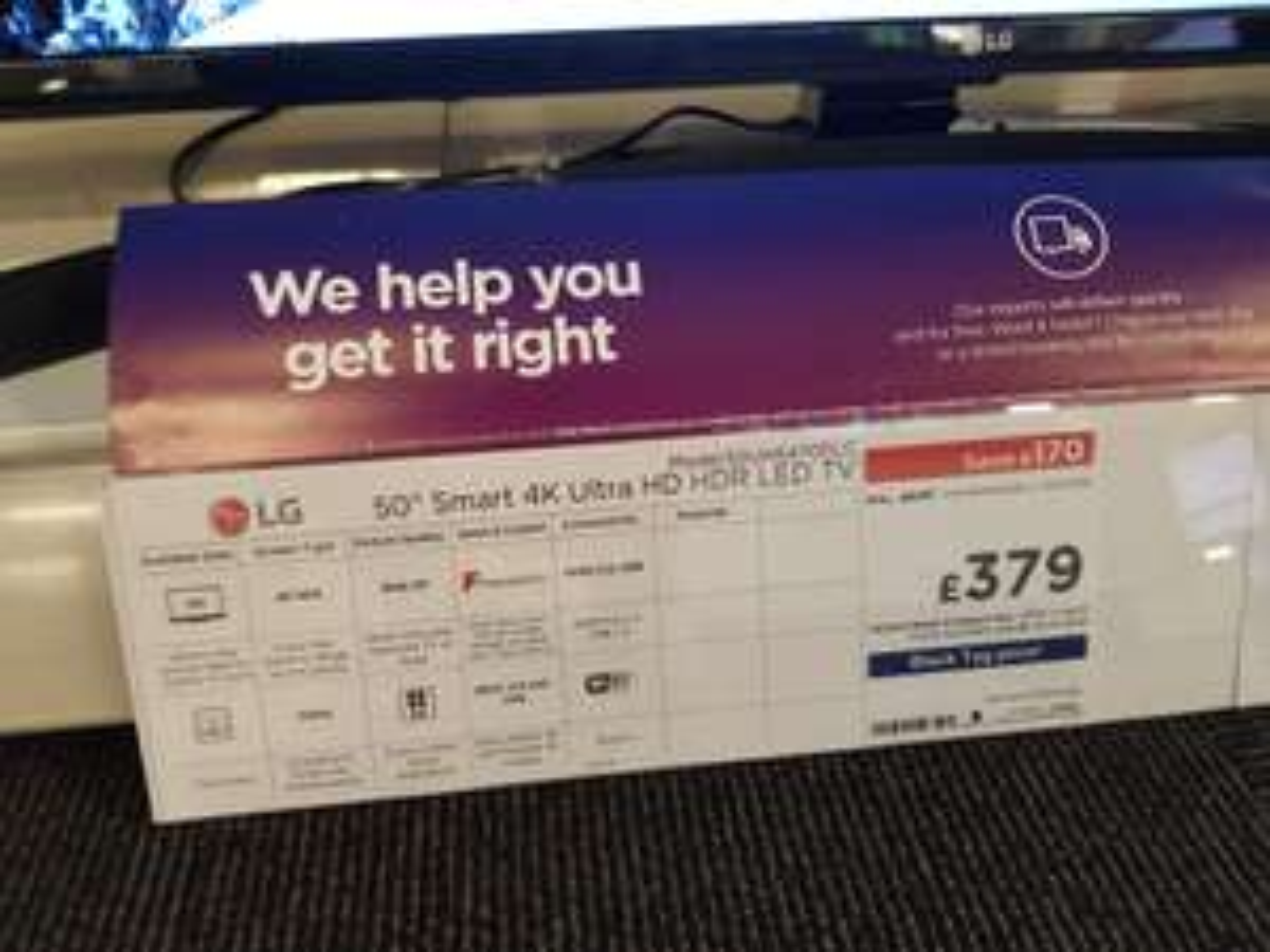 "LG 50UK6470PLC 50"" Smart 4K Ultra HD HDR LED TV £379 - edit now online using code TRANSFER20 @ Currys"