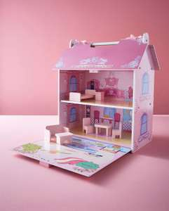 Cute Wooden Dolls House £16 @ JD Williams