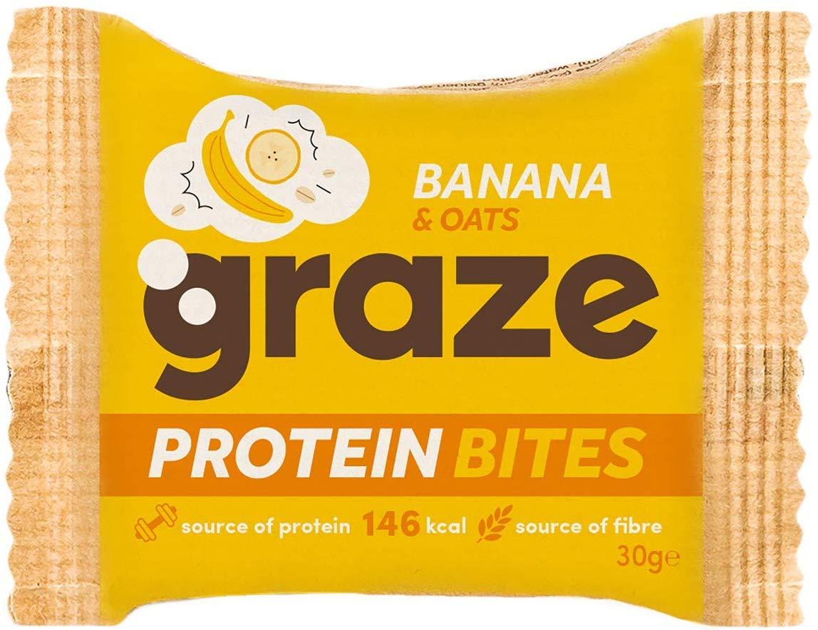 Graze Protein Bites - Banana & Oats pack of 15 Amazon Add on item  £5.63