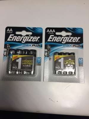 Energizer Max Plus AA/AAA Batteries BOGOF £5.99 @ BP with M&S Simply Food