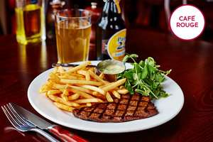 Three Course Meal for 2 with Glass of Prosecco each at Cafe Rouge @ Buyagift.com