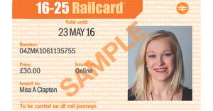 16-25, Two Together, Disabled, Senior Citizens, Family & Friends Railcard now only £10 with Tesco Clubcard Boost
