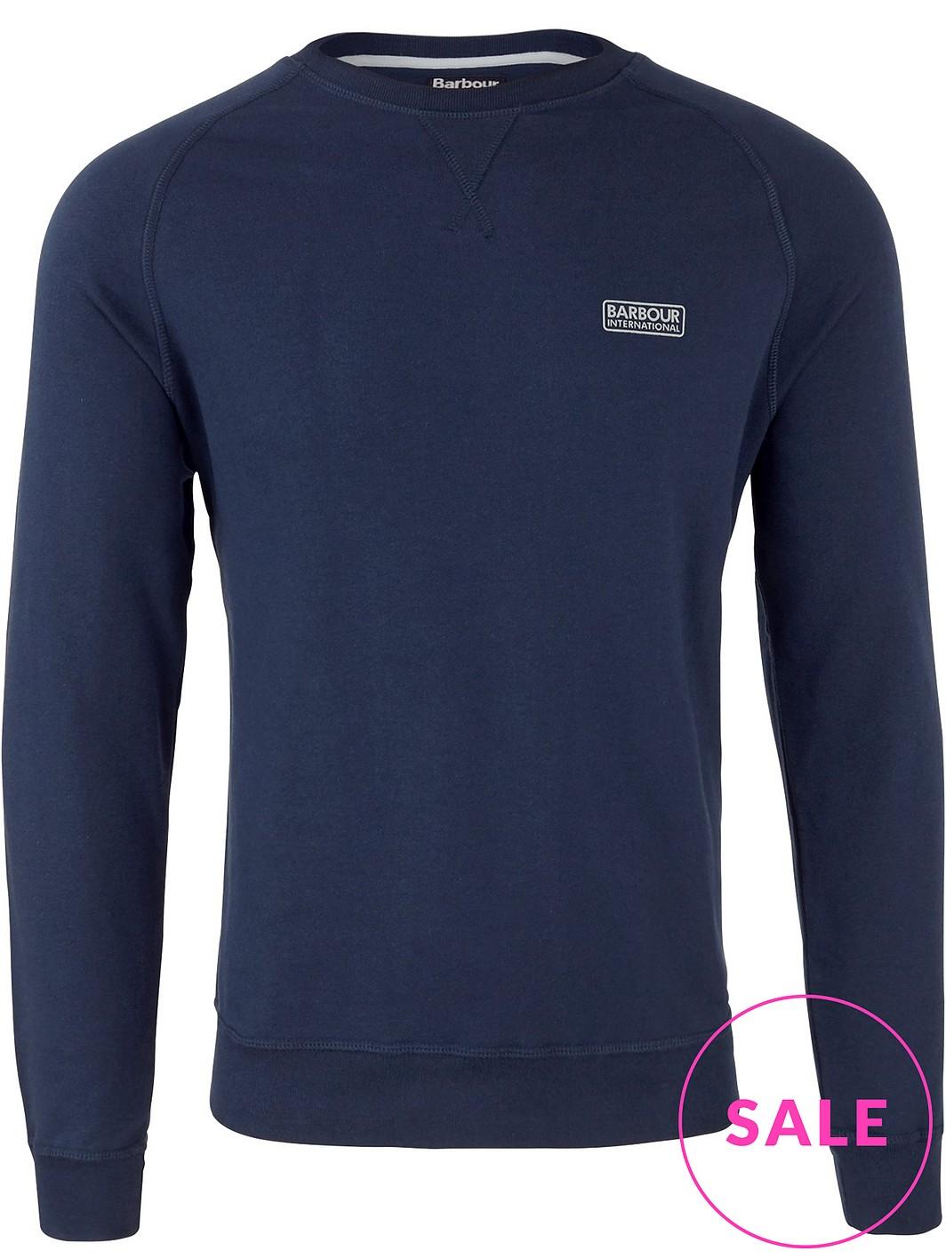 BARBOUR Small Logo Crew Neck Sweatshirt Navy (S/M left) - £35 @ Very Exclusive