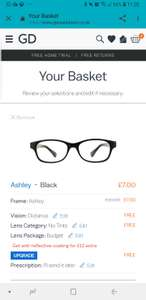 Upto 80% off at Glasses Direct. Cheapy pair from £10.95 inc del