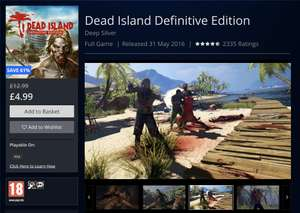 Dead Island Definitive Edition - PS4 @ Playstation Store - £4.99
