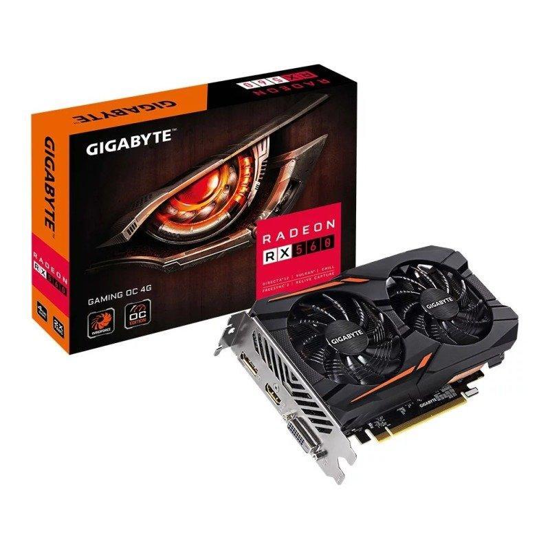 Gigabyte - Radeon RX 560 - 4 GB GAMING OC rev 2.0 - £121.86 @ more computers