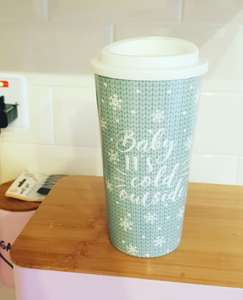 Travel mugs £1 also in other xmas designs @ Poundland