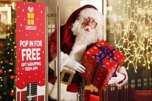 Greggs Free Gift Wrapping in London, Birmingham, Manchester, Newcastle, Glasgow + Free mulled wine 11/12 - 13/12