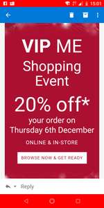 20% of at Hotel Chocolat VIP exclusive ends 9am 7th Dec
