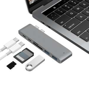 Dual Type-C USB3.0 HUB Combo 5Gbps (for new MacBook) £7.79 Delivered @ Tomtop