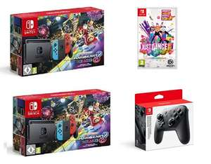 Nintendo Switch with Mario Kart 8 Deluxe + Just Dance 2019 £274.99 or with Switch Pro Controller £309.99 @ Amazon